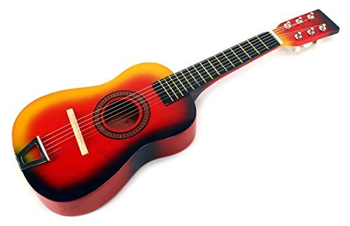 learn play wooden classic acoustic beginners kid 39 s 6 stringed toy guitar instrument comes. Black Bedroom Furniture Sets. Home Design Ideas
