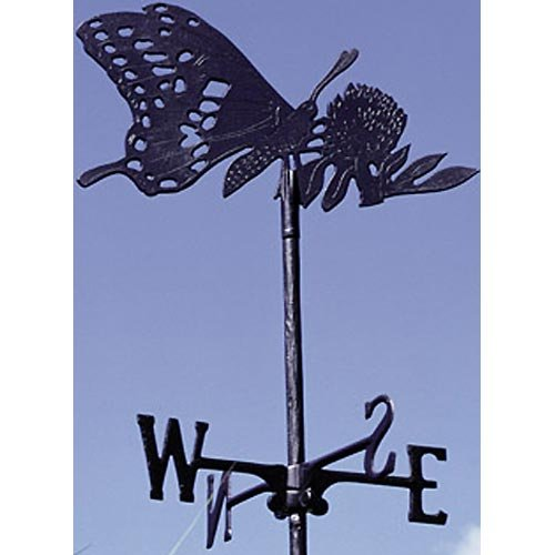 Whitehall Products Butterfly Garden Weathervane, Black