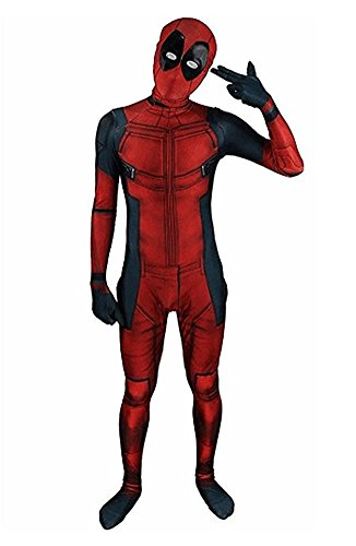 Kids Onesie Spandex Mask Cosplay 3D Costume Party Movies Halloween Bodysuits (Kid- M, (M And D's Halloween Movie)