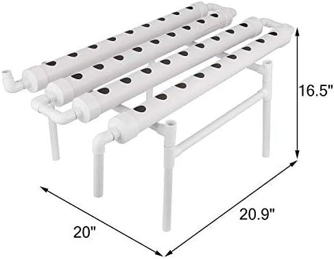 4YANG Kit de cultivo hidropónico 36 sitios 4 tubos Equipo de ...