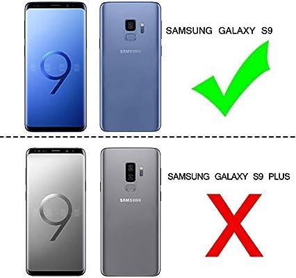 bd0a28a5 LeYi Compatible with Funda Samsung Galaxy S9 Silicona Purpurina Carcasa con  [2-Unidades] 3D Curvo Pet Pantalla,Transparente Cristal Bumper Telefono ...