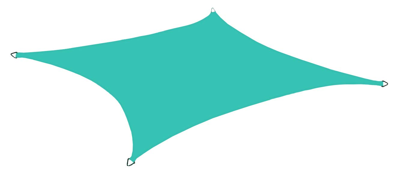 Alion Home 12' x 16' Rectangle Waterproof Polyester Woven Sun Shade Sail (1, Turquoise)