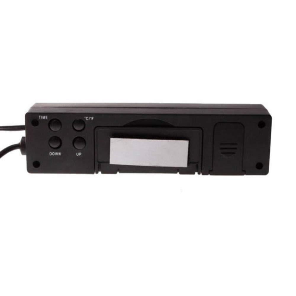 3 In1 Digital LCD Uhr Bildschirm Auto Auto Fahrzeug Zeituhr Temperatur Thermometer Spannung Voltmeter
