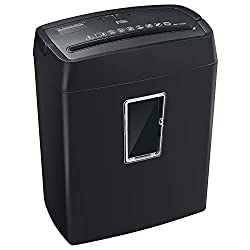 Bonsaii 6 Sheet Cross Cut Paper Shredder High Security P4 Office Shredders With 3 5 Gallons Wastebasket Capacity And Transparent Window Black C204 C