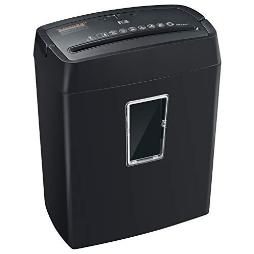 Bonsaii 6-Sheet Cross-Cut Paper Shredder, High-Security P4 Office Shredders with 3.5 Gallons Wastebasket Capacity and Transparent Window, Black (C204-C) (8 X 40 Shipping Container For Sale)