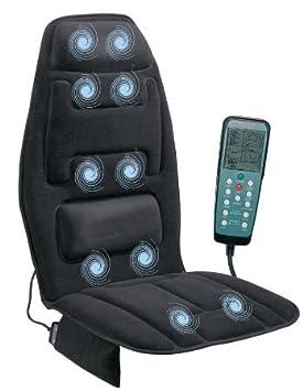 Masajeador De Espalda Y Cuello En Silla Para Auto - Con Calor Adaptable - Masajeador Automatico De Espalda Electrico Para Silla - Uso Casero Y En ...