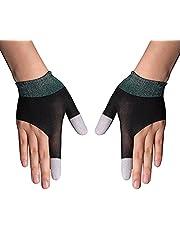 Gaminghandschoenen voor mobiele gamecontroller, Touch Finger Nano-Silver Fiber Materiaal Hooggevoelig Anti-Zweet Ademend Naadloze Touchscreen Handschoenen voor Telefoonspellen