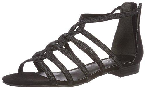 Comb Black Noir Femme 28156 Marco Tozzi Spartiates qXWY1