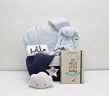 Canastilla Cesta regalo bebé niño / Cool Baby - Con Peluche, Albúm de nacimiento,