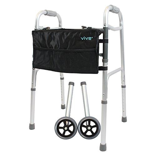 Aluminum Walking Aid Walker With Wheels - 6