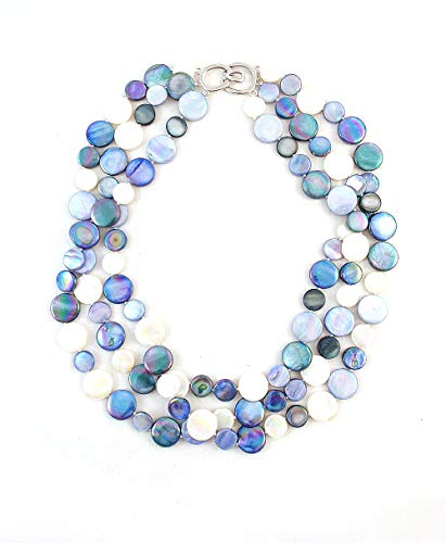 The Island Pearl Blue Mother of Pearl Necklace