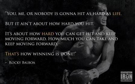 Carteles Elite 's Rocky Balboa 'you Me o nadie está Gonna...' SYLVESTER STALLONE motivación citados 30.5x 45.7cm...