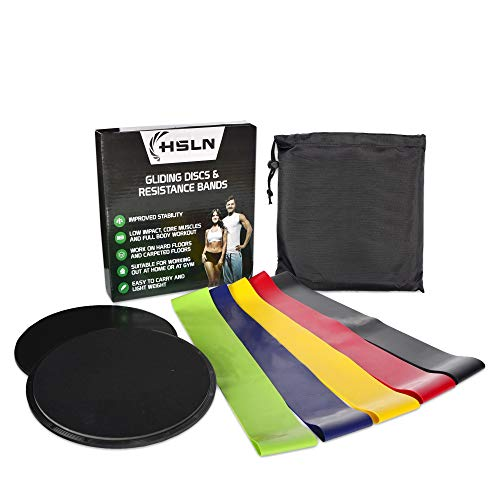 Ultimate Gliding Discs & Resistance Bands Set | 2 x Fitness