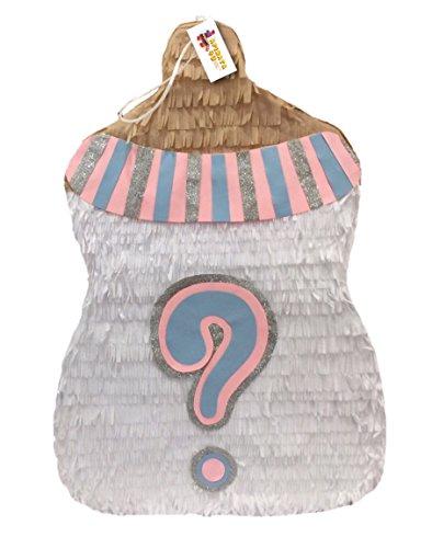 APINATA4U Traditional Gender Reveal Baby Bottle -