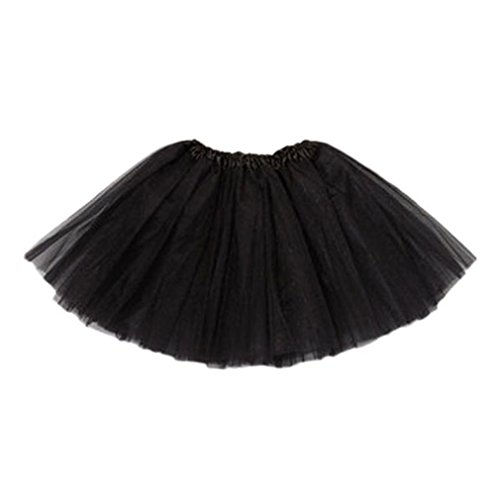 Tutu Assortment - Palarn Fashion Girl Princess Party Ballet Tutu Skirt Mini Dress baby (One size fit age 2-6years, Black)