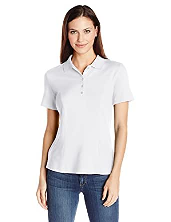 Riders by Lee Indigo Women's Morgan Short Sleeve Polo Shirt, Arctic White, Small