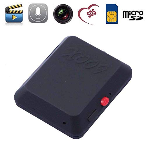 APMIXI X009 Mini GSM Locator with Camera Monitor Video Tracker Real Time Tracking and Listening GPS Tracker with SOS Button