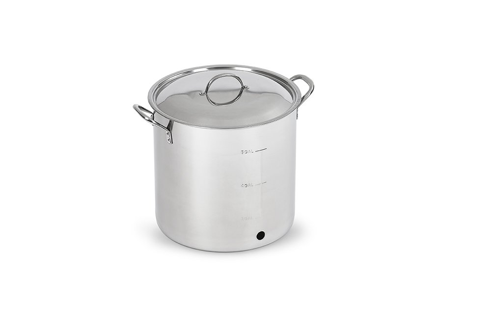 Polar Ware Stainless Steel Brew Kettle with Cover, Ball Valve and Bulkhead, 30-Quart by Polar Ware (Image #2)