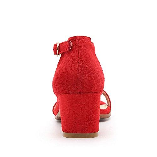 Red 35 SLC04241 Rosso Donna AdeeSu EU Ballerine IHX7xIw