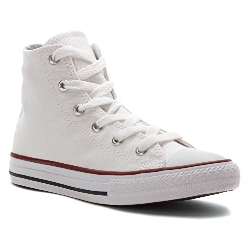 Converse Unisex Child Infant Chuck Taylor All Star Hi Top - White - 10 INFT (Girls White Converse High Tops)