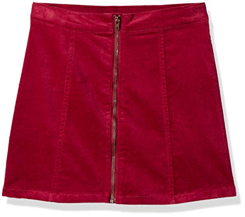 Crazy 8 Girls' Big Woven Mini Skirt, Berry Corduroy Zipper, 10