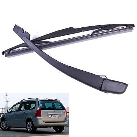 BEESCLOVER - Escobillas R + Brazo de limpiaparabrisas Negro para el Bisel Trasero del Coche Peugeot 307 Sw/Estate 2000 a 2008: Amazon.es: Coche y moto