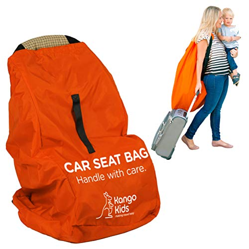 Car Seat Travel Bag -Make Travel Easier & Save Money. New Improved Carseat Carrier for Airport - Protect Your Child's CarSeats & Stroller from Dirt and Damage. Easy Carry Padded Backpack