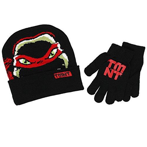 TMNT Teenage Mutant Ninja Turtles Boys Beanie Hat and Gloves Set (One Size, (Ninja Turtle Hats And Gloves)