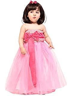5ea116f7c Samsara Couture Baby Kids Cap Sleeve Full Length Gown Dress for ...