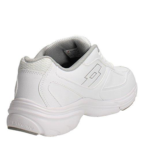 Lotto Antares Ix Lth, Zapatillas de Running para Hombre Blanco / Plateado (Wht / Slv Mt)