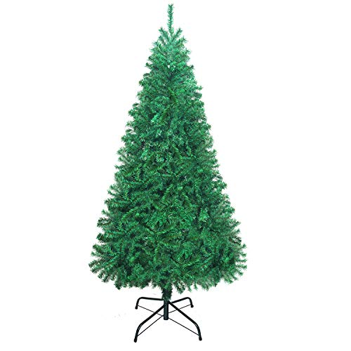 Herron Christmas Tree Artificial Premium Spruce Hinged Xmas Tree with Metal Stand for Indoors Outdoors 7.5ft (Best The Xmas Tree Stands)