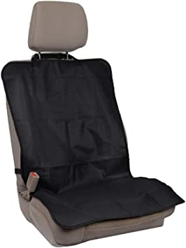 Heavy Duty Muddy Waterproof BLACK Car Front Single Seat Cover Protector