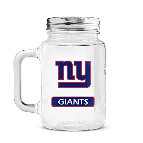 NFL New York Giants 20oz Glass Mason Jar (New York Giants Mug)