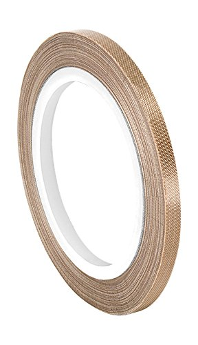 TapeCase 134-5 PTFE Tan Abrasion Resistant Fiberglass Tape Silicone Adhesive Industrial Grade - 0.375 Width 36YD Length (1 Roll) / TapeCase 134-5 PTFE Tan Abrasion Resistant Fiberglass Tape Silicone Adhesive Industrial Grade - 0.37...