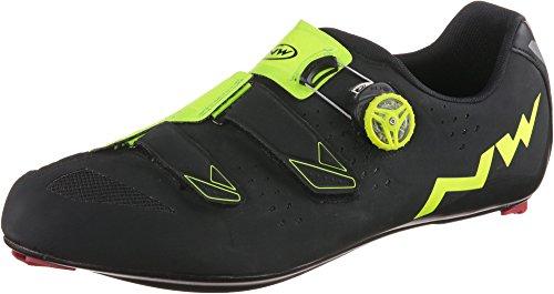Northwave Hombre Phantom Carbon bicicleta guantes negro y amarillo