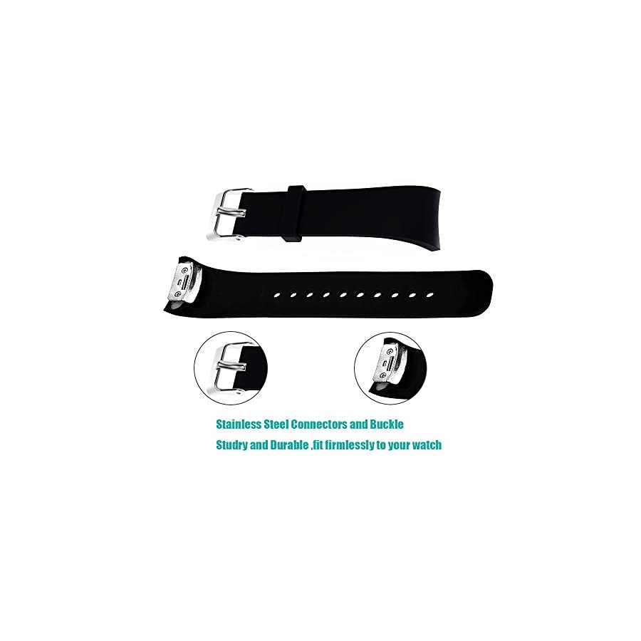 Compatible Samsung Gear Fit2/Fit2 Pro Bands, Soft Silicone Bracelet Replacement Band Strap for Samsung Gear Fit2 SM R360/Fit 2 Pro SM R365 Smart Fitness Band Small Large