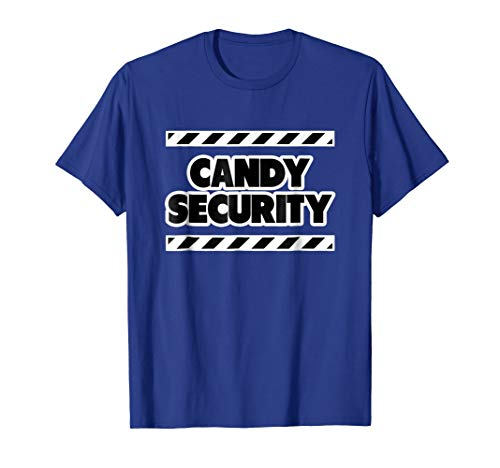 Funny Candy Security Halloween Shirts for Mom Dad,