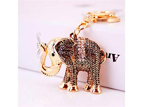 Yunqir Lightweight Vintage Cute Elephant Shape Keyring Handbag Purse Pendent Keychain for Women(Gold) by Yunqir