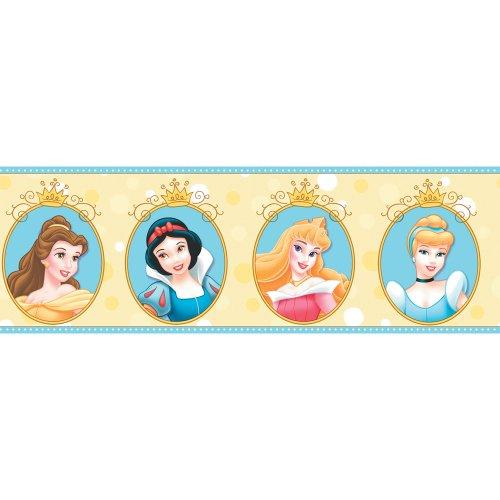 Cameo Border - Imperial Disney Home DF059302B Princess Cameo Border, Yellow, 6.83-Inch Wide