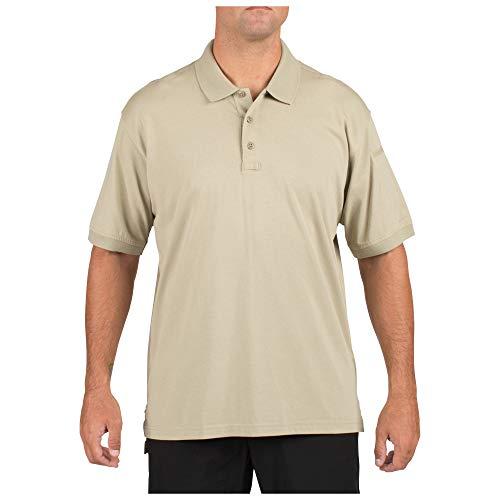 (5.11 Tactical Tactical Short-Sleeve Polo, Silver Tan, Medium)