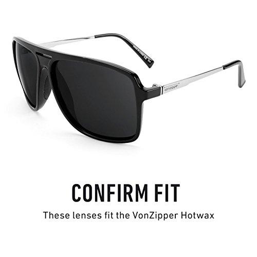 Revant Hotwax Mirrorshield Lentes — Zipper de Opciones para de Von Medianoche repuesto Polarizados múltiples Sol YYnrfO0