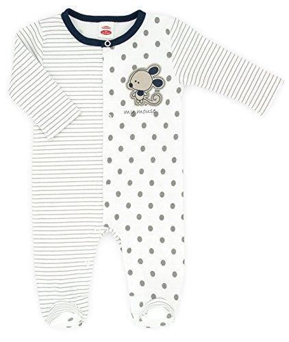 MAKOMA Baby Mädchen Strampler mit Fuß Strampelanzug -02115 Mouse- (56
