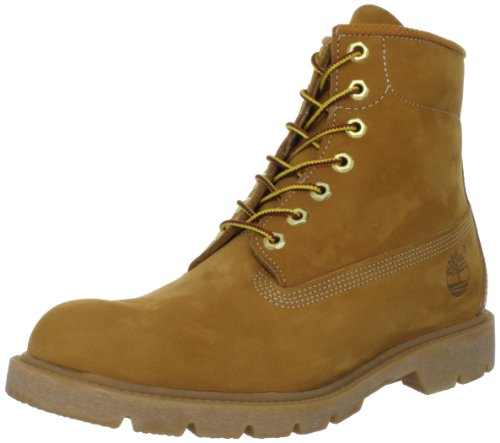 (Timberland Men's Six-Inch Basic Boot,Wheat Nubuck,7.5 M US)