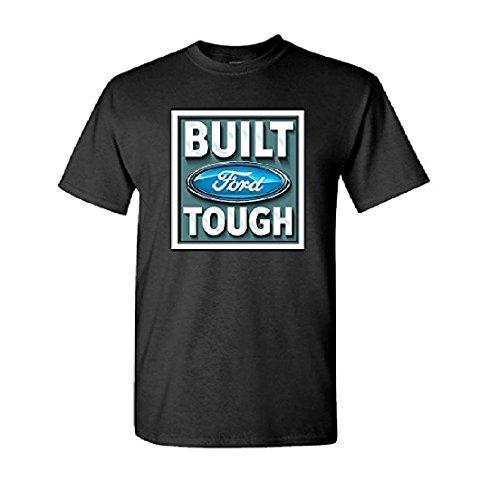 Ford - Mens Built Tough Stamp T-shirt Small Black Black Thunderbird Model