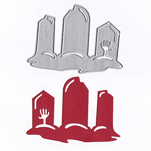 Hukai Halloween Grave Metal Cutting Dies Stencil DIY Scrapbooking Album Stamp Paper Card Embossing Crafts Decor,Good Gift for Your Kids to Cultivate Their Hands-on Ability -