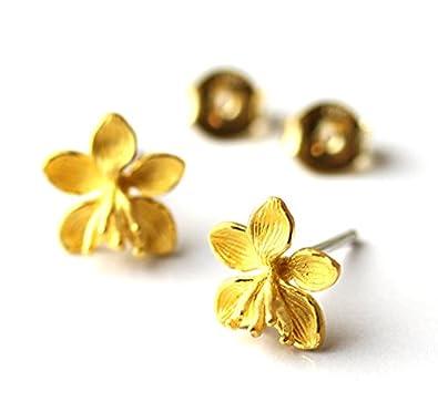 86fa7deada22 PRIMAGOLD(プリマゴールド) 個性的なフラワー 純金 ピアス K24 pierce純金 イヤリング変更