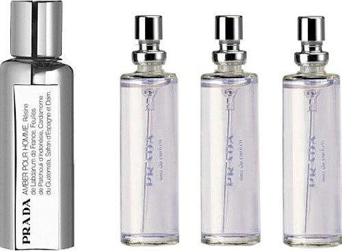 Prada By Prada Cologne Travel Spray and Refills 0.34 Oz EDT (Quantity of Three) for - Men Online Prada