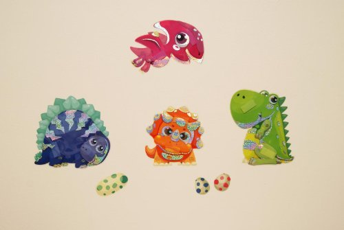 Childrens Bedroom Boys Girls Kids Childrens Childs Baby Nursery Playroom Dinosaur Dino Prehistoric Jurassic Caveman Wall Furniture Stickers Decals Stickarounds Decor]()