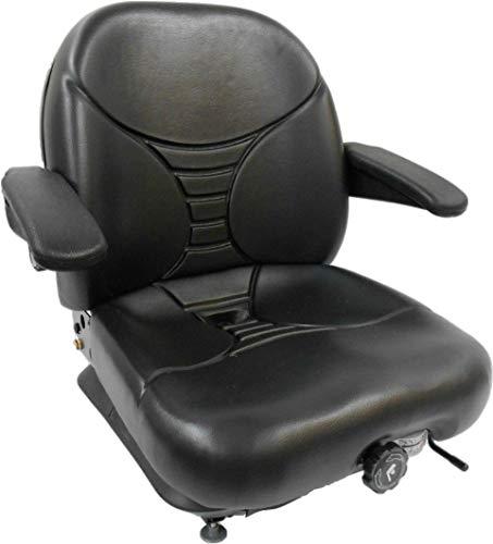 Michigan Black Seat, Milsco V5300 High Back Suspension Seat W/Lumbar #15980 #HE