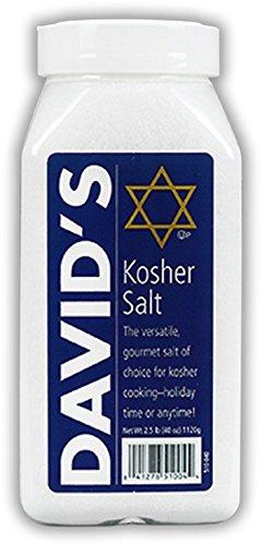 DAVID'S, KOSHER SALT, Pack of 6, Size 40 OZ - No Artificial Ingredients